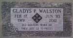 Quilting Headstone - Walston